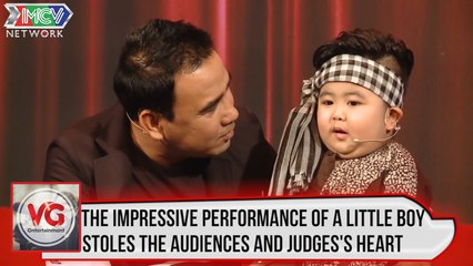 The impressive performance of the little boy stoles the audiences and the judges's heart