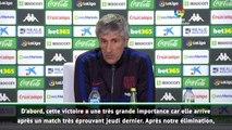 """Barça - Setién : """"Cette victoire a une très grande importance"""""""