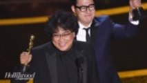 Bong Joon Ho's 'Parasite' Makes History as First South Korean Film to Win an Oscar | THR News