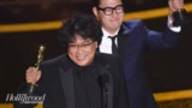 Bong Joon Ho's 'Parasite' Makes History as First South Korean Film to Win an Oscar | THR News