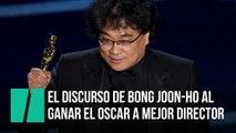 El discurso de Bong Joon-ho al recibir el Oscar a mejor director