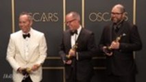 Josh Cooley, Mark Nielsen and Jonas Rivera Discuss 'Toy Story 4' Best Animated Film Win Backstage at Oscars 2020
