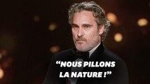 Le vibrant discours de Joaquin Phoenix aux Oscars sur la nature