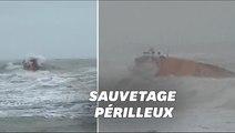 Tempête Ciara: les sauveteurs anglais ont secouru ce surfeur dans une mer déchaînée