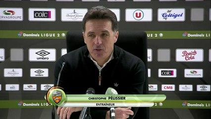 La réaction de Christophe Pelissier après EA Guingamp - FC Lorient (2-1) 19-20
