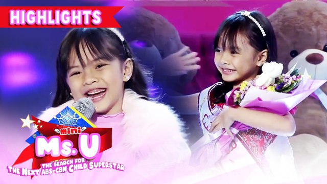 Nicki Santos emerges as Mini Miss U of the day | It's Showtime Mini Miss U