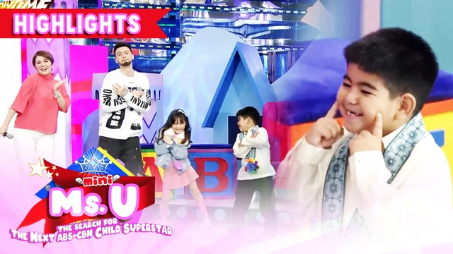 Yorme dances with Billy, Vhong, Amy and Mini Ms U candidate | It's Showtime Mini Miss U