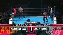Jeff Cobb vs Hirooki Goto