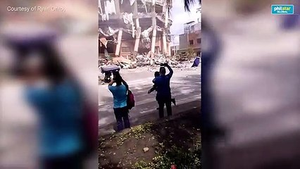 Rescuers arrive after hotel building in Kidapawan collapsed