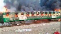 Pakistan train fire : Tezam Express Fire Incident in Rahim Yar Khan