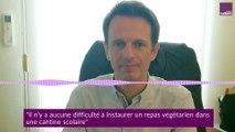 """James Chéron, maire de Montereau (UDI) : """"La mise en place du menu végétarien n'est pas compliquée en termes de restauration pure"""""""