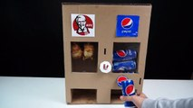 How to Make KFC Chicken Drumsticks and Pepsi coca cola Vending Machine from Cardboard