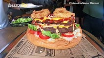 Burger Or Bust! Burger Joint Challenges Anyone To Finish The Biggest Burger In Thailand Within 9 Minutes!