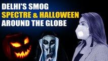 Watch: As world celebrates Halloween, Delhi Air Pollution haunts people | OneIndia News