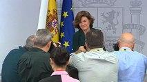 Calvo en la rueda de prensa posterior al Consejo de Ministros