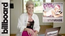 P!nk Reacts To Her Very First Music Video, Her Iconic Glitter In the Air Grammys Performance & More ,  Billboard