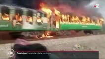 Pakistan : incendie dans un train
