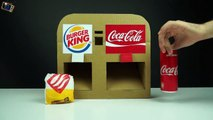 How to Make Burger King and Coca Cola Vending Machine from Cardboard