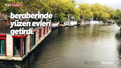 Amsterdam kanalları üzerinde yaşam