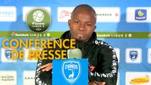Conférence de presse Chamois Niortais - FC Sochaux-Montbéliard (0-2) : Pascal PLANCQUE (CNFC) - Omar DAF (FCSM) - 2019/2020