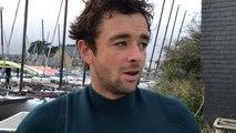 Pierre Le Coq revient sur sa première journée des championnats de France de planche à voile