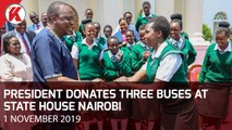 President Donates Three Buses At State House Nairobi