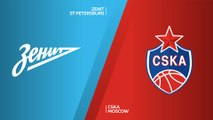 Zenit St Petersburg - CSKA Moscow Highlights | Turkish Airlines EuroLeague, RS Round 6