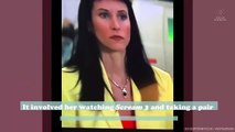 Courteney Cox scared us all by cutting her own bangs back to her notorious Scream 3 style