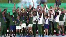 Siya Kolisi lifts the Webb Ellis Cup after South Africa win Rugby World Cup 2019!