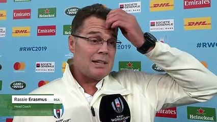 Rassie Erasmus reflects on his sides powerful victory