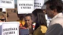 ERC saca músculo en el acto central de campaña ante la cárcel de Lledoners