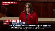 Rep. Katie Hill Gives Her Final Speech In Office