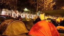 Los acampados en Barcelona piden que vaya más gente