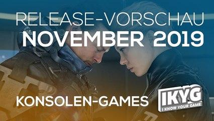 Games-Release-Vorschau - November 2019 - Konsole