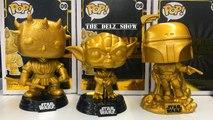 Stars Wars Gold Jango Fett,Darth Maul & Yoda Funko Pop Walmart Exclusive Vinyl Figure Unboxing Review