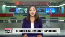 S. Korea's gov't expenditure to GDP ratio expected to be among the lowest of G20