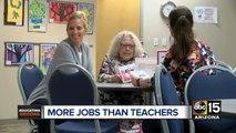 More jobs than teachers