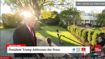 2019 NOV 01 Trump Gaggle; All Indicators Are Positive, Impeachment Hoax; Crazed Democrat Lunatics