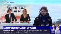 Amélie: la tempête souffle fort en Vendée