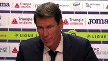 Football - Ligue 1 - Rudi Garcia en conférence de presse après la victoire de l'Olympique Lyonnais
