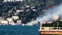 Bebek sahilde tekne yangını