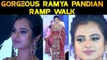 GORGEOUS RAMYA PANDIAN  RAMP WALK | PRAWOLION FASHION WEEK | FILMIBEAT TAMIL