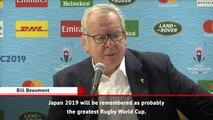 Japan 2019 lauded as 'greatest' Rugby World Cup