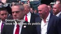 Donald Trump hué dans le public lors d'un combat de MMA à New York