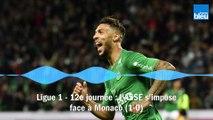 Ligue 1 - 12e journée : l'ASSE s'impose contre Monaco