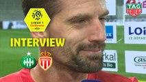 Interview de fin de match : AS Saint-Etienne - AS Monaco (1-0)  - Résumé - (ASSE-ASM) / 2019-20