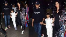 Aishwarya Rai Bachchan returns with Aaradhya Bachchan & Abhishek birthday celebration | FilmiBeat