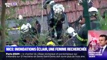 À Nice, les pompiers sont engagés dans une course contre-la-montre pour sauver une femme disparue dans un glissement de terrain