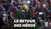 Les Springboks acclamés en Afrique du Sud après leur victoire