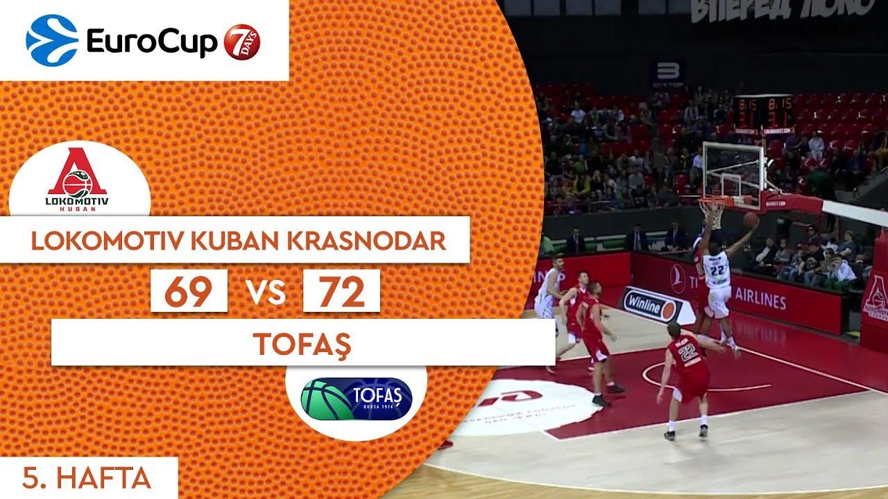 Lokomotiv Kuban Krasnodar 69 - 72 Tofaş  | Maç Özeti - EuroCup 5. Hafta